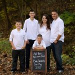 Family Picture with Chalkboard