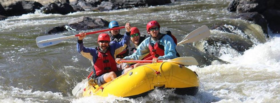 Whitewater rafting trip on the French Broad River